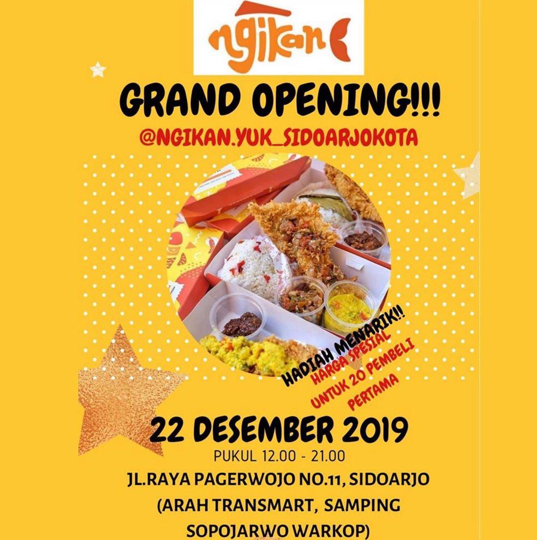 Grand Opening Ngikan Yuktanggal 22 Desember 2019 Haloo Rekkk Kabar
