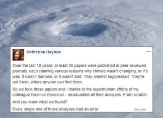 Ilmuwan Membanting Perubahan Iklim Menyangkal Dalam Viral Post Cemerlang