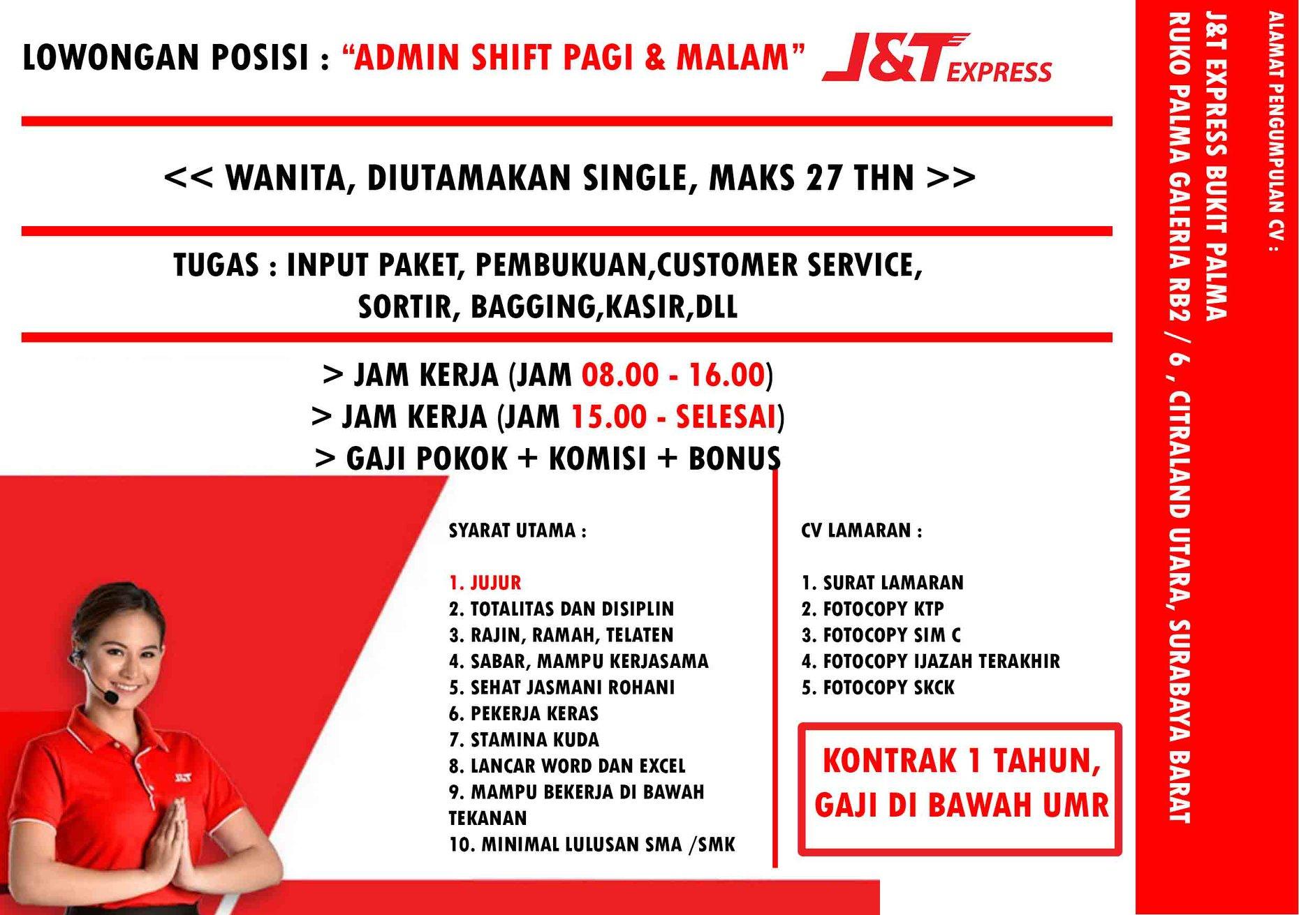 Surabaya Barat Lowongan Admin Shift Pagi Serta Malam Pendidikan Minimal Sma Portal Berita Sidoarjo