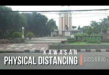 Kawasan Physical Distancing di Sidoarjo tadi Pagi..kami himbau untuk mematuhi dengan dirumah sa...