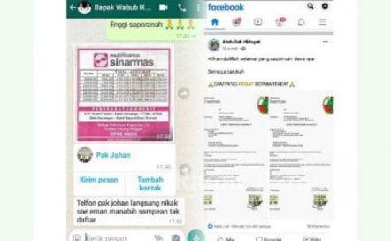 Awas Akun Palsu, Akun Fb dan Whatshap Wabup Sampang di Bobol